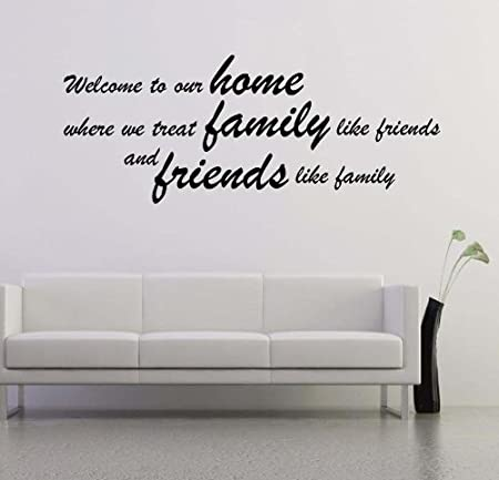 Large Welcome To Our Home Home Wall Art Quote Mural Decal Graphic