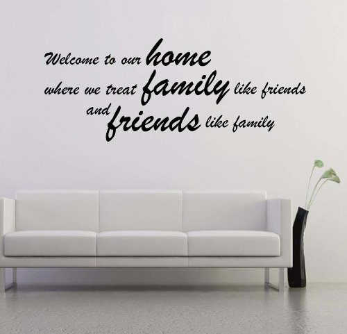 (LARGE) U0027Welcome To Our Homeu0027 Home Wall Art Quote Mural Decal Graphic Part 52