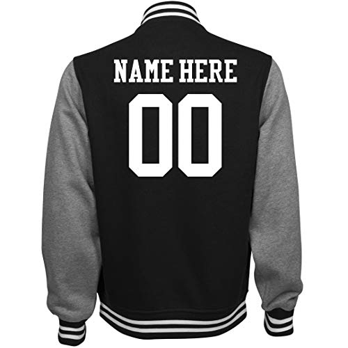 Customized Girl Personalized Varsity Jacket: Unisex Fleece Letterman Varsity -