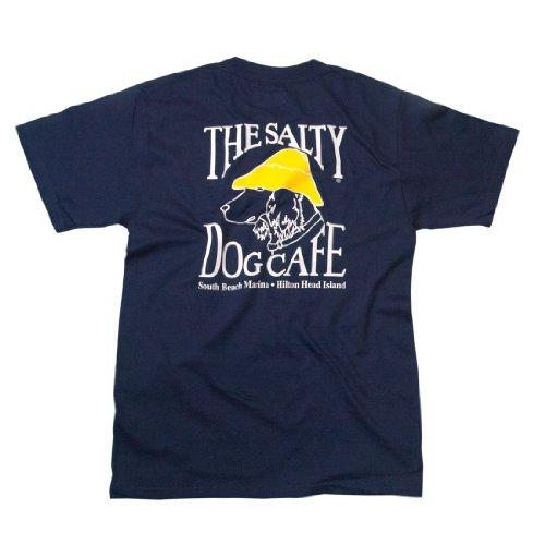 Salty Dog Hanes Beefy-t - Medium, Navy (Salty Dog Tshirt)
