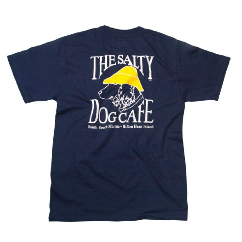(Salty Dog Hanes Beefy-t - Medium, Navy)