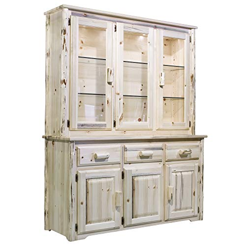 - Montana Woodworks MWCHLDAZ China Hutch & Sideboard, Ready to Finish