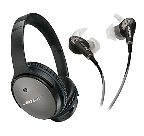 Bose QuietComfort 25 & 20 Bundle Noise Cancelling Headphones for Apple devices (wired, 3.5mm) - Black -  Bose QC 25 and 20 Bundle Apple