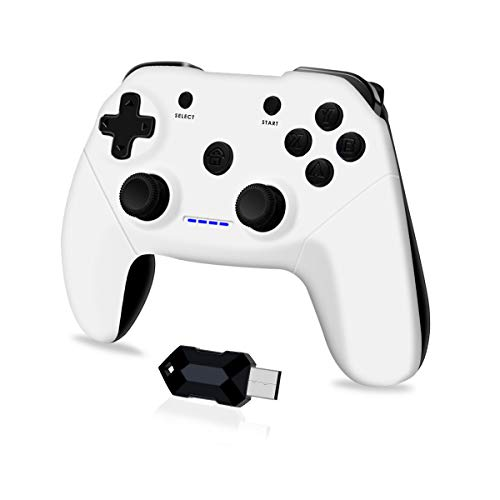Clevo Controller for PC, Wireless 2.4G Game Controller for PS3, Android Phones, Android Tablets, Android TV Box, Steam…