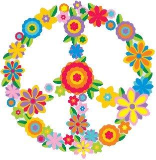 Flower Peace Sign – peace / anti-war Bumper Sticker / Decal (3