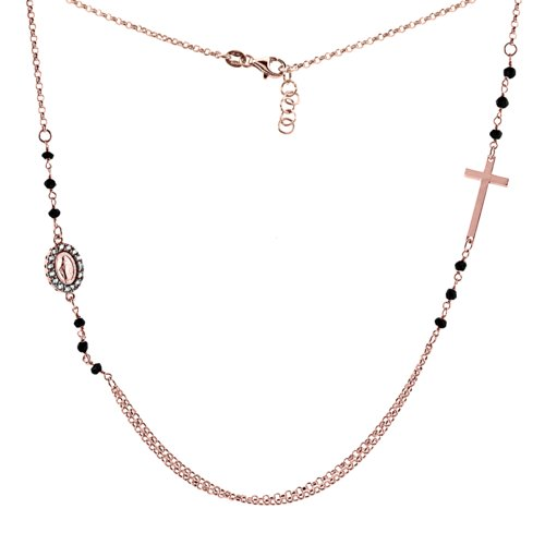 Sterling Silver Miraculous Necklace Zirconia