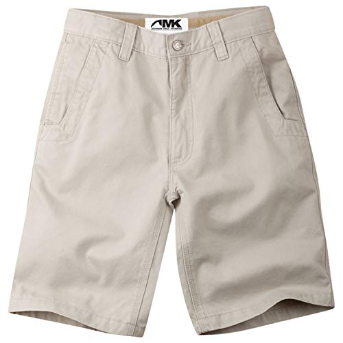 Mountain Khakis Men's Teton Twill Short Relaxed Fit, Stone, 35W 8In
