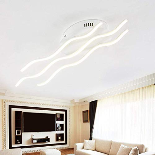 BOSSLV Ceiling Lamp Modern Creative Designer Lamp Metal Acrylic Waves Romantic and Warm Ceiling Light Indoor Decorative Lighting Fixture for Parlor Bedchamber Kitchen Bar -