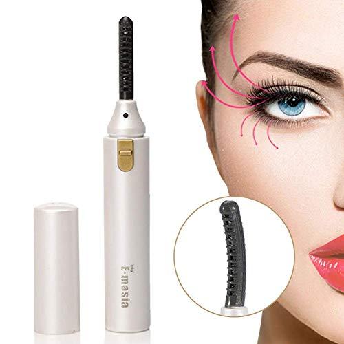 Heated Eyelash Curler,Mini Electric Eyelash Curler Brush,Eyelash Curler with Comb Long Lasting Curled,Portable Electric Makeup Eye Lashes Brush