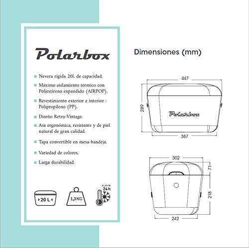 Nevera Polarbox Retro Vintage 20 Litros Port/átil Verde