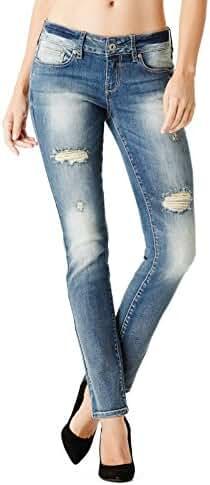 GuessFactory Sarah Skinny Jeans in Medium Vintage Wash