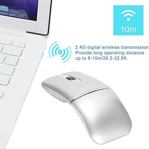 Garsentx Souris Bluetooth sans Fil, Souris de Jeu sans Fil Ergonomique Rechargeable à Souris silencieuse et silencieuse Mince pour Ordinateur Portable