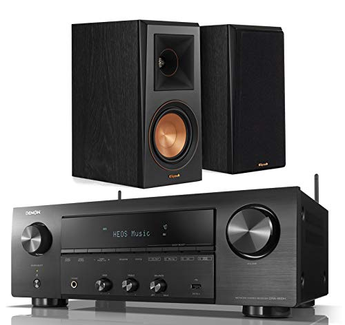 Denon DRA-800H 2-Channel Home Audio/Video Stereo Receiver Bundle with Klipsch RP-500M Reference Premiere Bookshelf Speakers - (Pair) Ebony (Dra Denon)