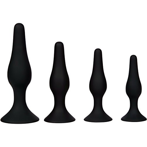 UPC 606413333300, Butt Plug Kit, Silicone 4Pcs Anal Pleasurable Sex Toy with Suction Cup Base for Experienced Users and Beginners