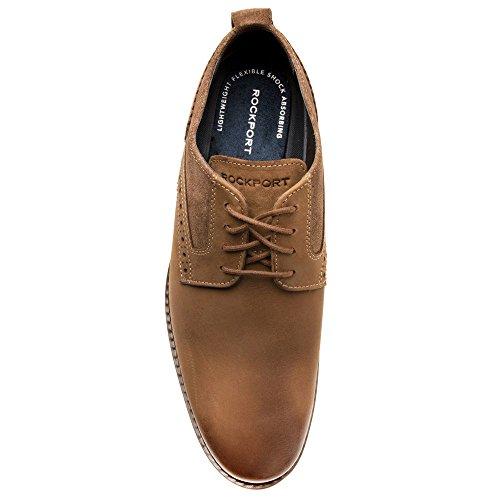 Shoe Uomo Chiaro Stringate Wynstin Scarpe Rockport Toe Plain Marrone Oxford Bntznq0w