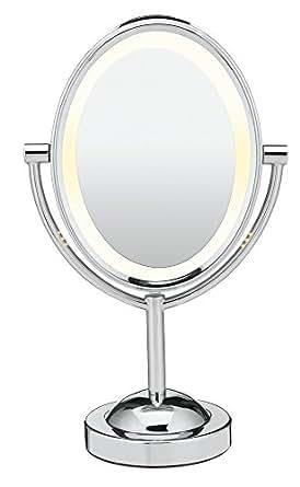 Conair Double-Sided Illuminated Oval Mirror one Polished Chrome Finish