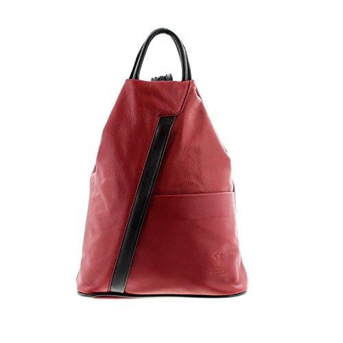 en rouge sac Icone® pour main à noir per à Borsetta IO le dos à Sac port IO femme bretelles MIO 6gqUwnO
