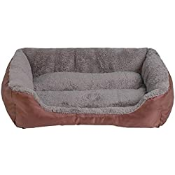 S-3XL Cat Bed 9 Colors Paw Pet Sofa Dog Beds Waterproof Bottom Soft Fleece Warm Cat Bed House Petshop,Coffee,M