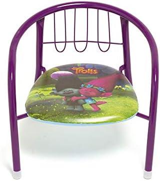 Arditex Trolls Metal Chair, Light Purple, 30 x 35.5 x 33.5 cm