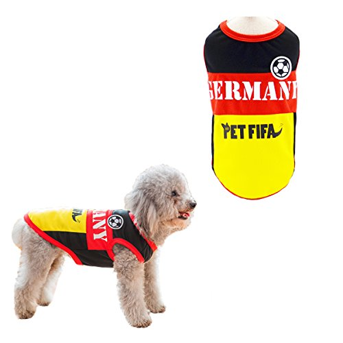 906ebd214aa Dog T-shirt Costume Sport Jersey Pet National Flag Football Soccer World  Cup FIFA Germany