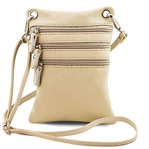 Pelle Beige Tracollina Leather Morbida Tlbag Tuscany In 7xaIqvqw