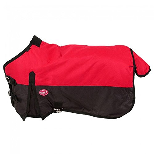 Tough 1 600D Waterproof Poly Miniature Turnout Blanket, Red, 36'' by Tough 1