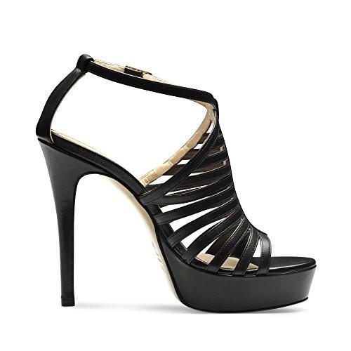 Evita Shoes - Sandalias de vestir de Piel para mujer Negro - negro