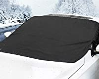 MATCC Car Windshield Snow Cover Magnetic Waterproof Ice Removal Winter Windshield Cover Sun Shade Protector Lengthened Side Panels Snow Protection Cover Fits All Season Most Cars