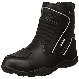Joe Rocket Men's Meteor FX Mid Leather Motorcycle Riding Boot (Black, Size 10)