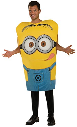 Minions Movie Womens Plus Size Minion Costumes (UHC Men's Despicable Me Minion Dave Outfit Movie Theme Fancy Dress Party Costume, STD (Up to 44))