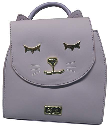 - Betsey Johnson Luv Betsey Amara Mid Size PVC Kitsch Backpack Lavender