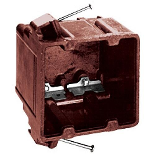 Thomas & Betts 1072-C Switch/Outlet Box, 2-Gang, Depth: 3-7/8