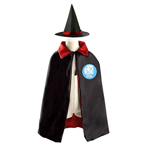 DIY THE TDM LOGO Costumes Party Dress Up Cape Reversible with Wizard Witch Hat (Jack Daniels Costume Diy)