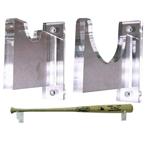 Deluxe Acrylic Horizontal Bat Wall Mount Holder (Acrylic Baseball Holders)