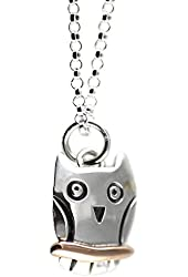 Far Fetched Mixed Metal Owl Necklace