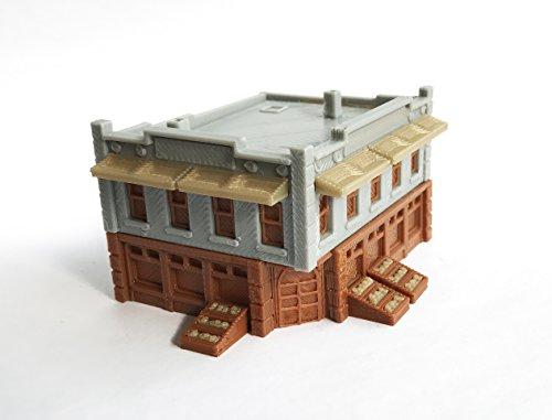 outland models Train Railroad City Grocery Store / Shop (Corner) N Scale 1:160 ()