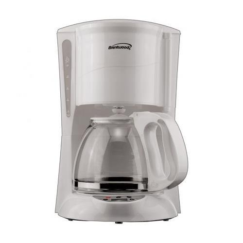 BRENTWOOD TS218W Brentwood 12-Cup Coffee Maker Digital (White)