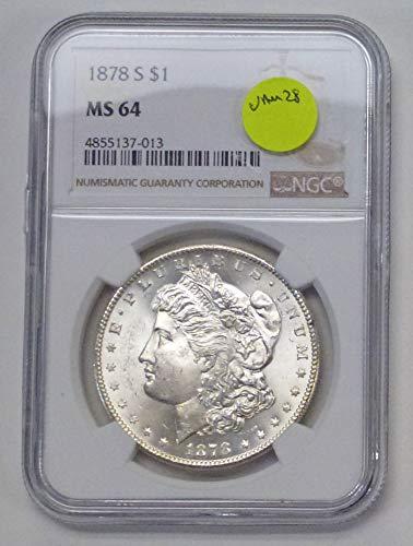1878 S Morgan Dollar VAM 28  NGC graded MS-64