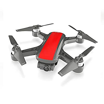 QKa GPS Remote Control Aircraft, Drone Aerial Photography HD Professional Long Battery Lifeless Brushless Optical Remote Control Aircraft
