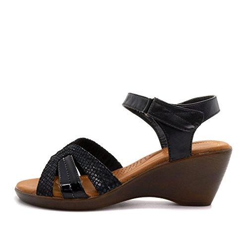 London Footwear ,  Damen Knöchel-Riemchen Schwarz