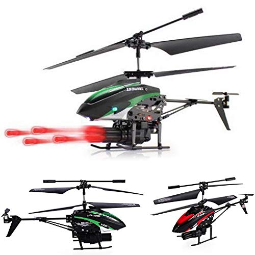 Remote Control Helicopter Missile Shooting Helicopter,Double Motor Remote Control and RTF with Six Missiles Rapid Fire RC Helicopter That Shoots. -
