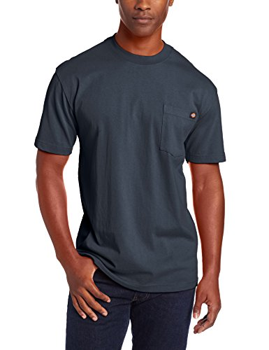 Dickie's Men's Short Sleeve Heavyweight Crew Neck Pocket T-Shirt, Dark Navy, X-Large by Dickies