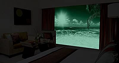 Startonight Mural Wall Art Photo Decor Morning on the Beach Medium 4-feet 2-inch By 6-feet Wall Mural for Living Room or Bedroom
