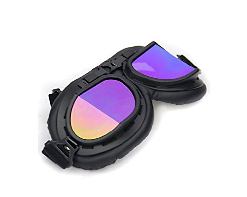 Retro Style Steampunk Pilot Style Motorcycle Goggles UV Protection Cycling Motorcycle Biker Moto Bike Biker Eyewear Windproof Powersport Sport Glasses Goggles Black Frame Safety Glasses - Goggles Biker Prescription