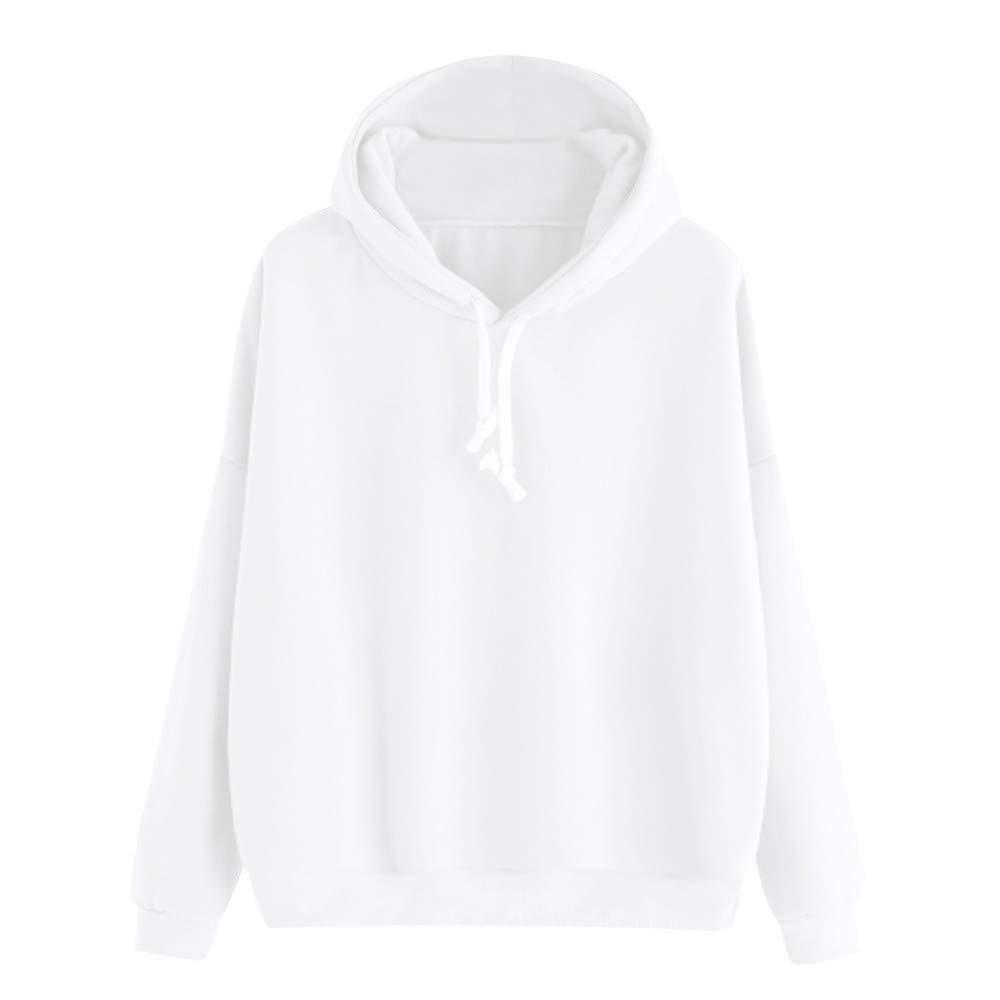 INNEROSE ❤ Donna Felpe Maglione con Cappuccio Capispalla, Moda Donna Cappotto Solido Manica Lunga Casual Hooded Felpa Pullover Top Camicetta Solido Autunno Inverno T-Shirt