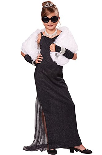 Mememall Fashion Red Carpet Starlet Hollywood Diva Child Costume