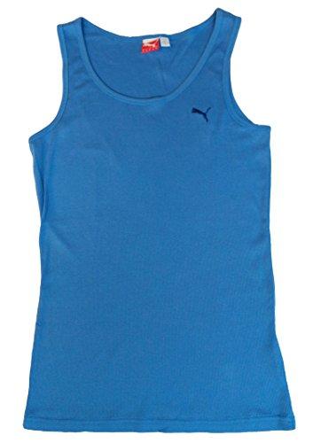 (Puma Womens Sport Lifestyle Cat Boy Ribbed Tank Top Shirt (Palace Blue, Small))