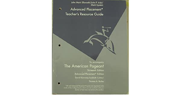Teacher S Resource Guide To Accompany The American Pageant