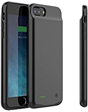 iPhone Battery Case 4000mAh, iPhone Case Charger for iPhone 6s Plus / 6plus / 7plus / 8plus, iPhone Case Battery Portable Protective Charging Case 5.5 inch, Black