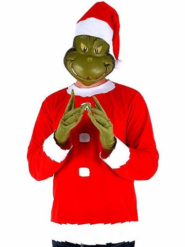 Dr. Seuss Grinch Costume Adult Costume (Large/XL) (Mime Masks For Sale)